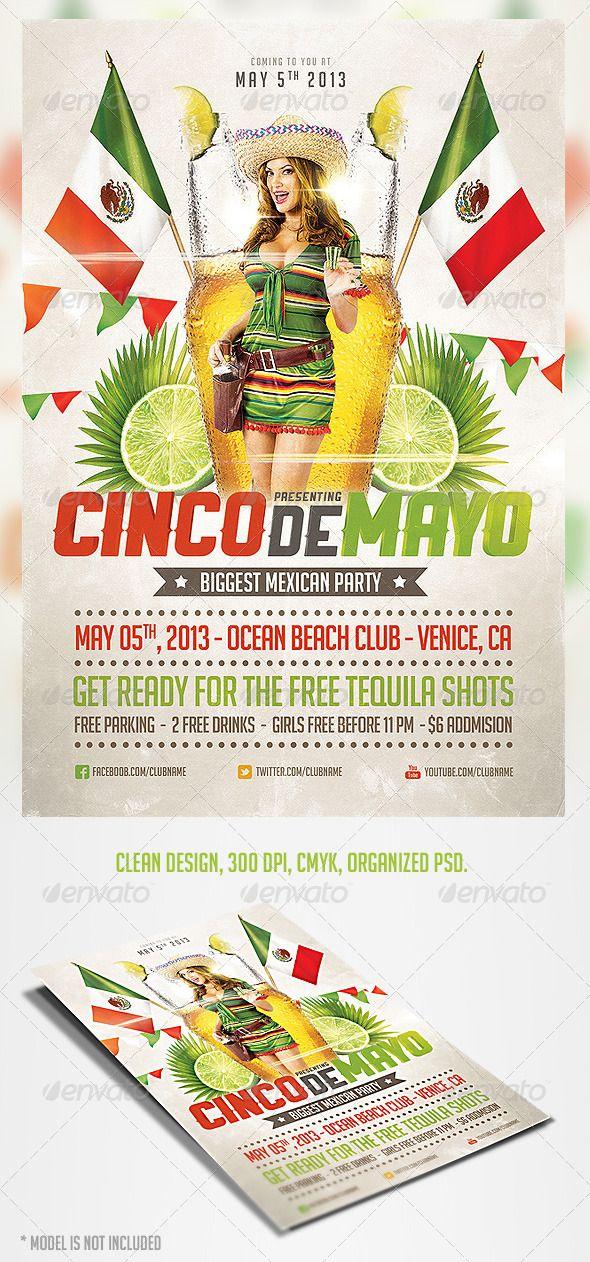 edit cinco de mayo party flyer 3 graphicriver item for sale my