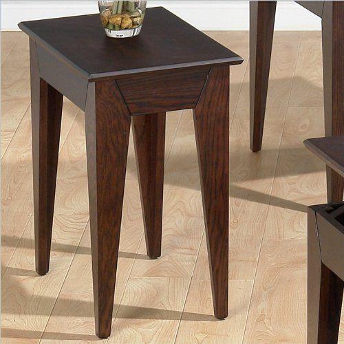 Jofran 401 Series Wood Chairside Table In Albion Oak By