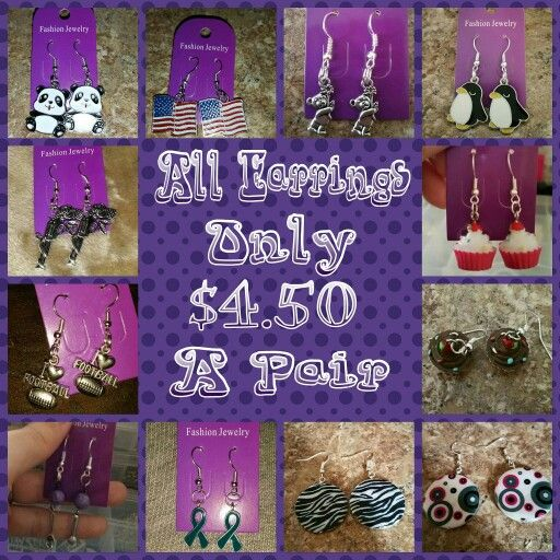 Hello everyone this is Jen from Jens Charmed Jewels. Are you all having a wonderful evening? Well I want to make it even better.  This evening I wanted to make sure you all know any pair of my earrings are just $4.50. Get yours now by visiting  http://www.charmedcrafters.com/store/c2/Jens_Charmed_Jewels.html