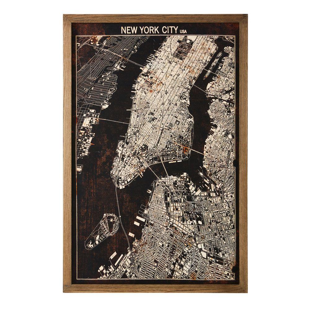 Cuadro con mapa de Nueva York 80x120 | Pinterest | mapa de Nueva ...