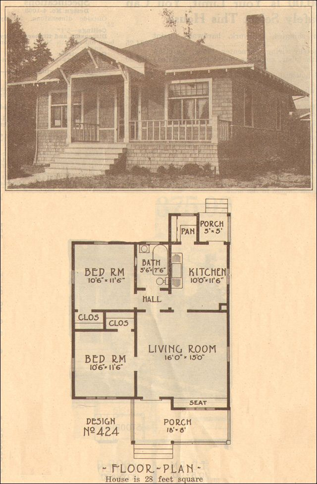 Bungalow Style House Plans 1930