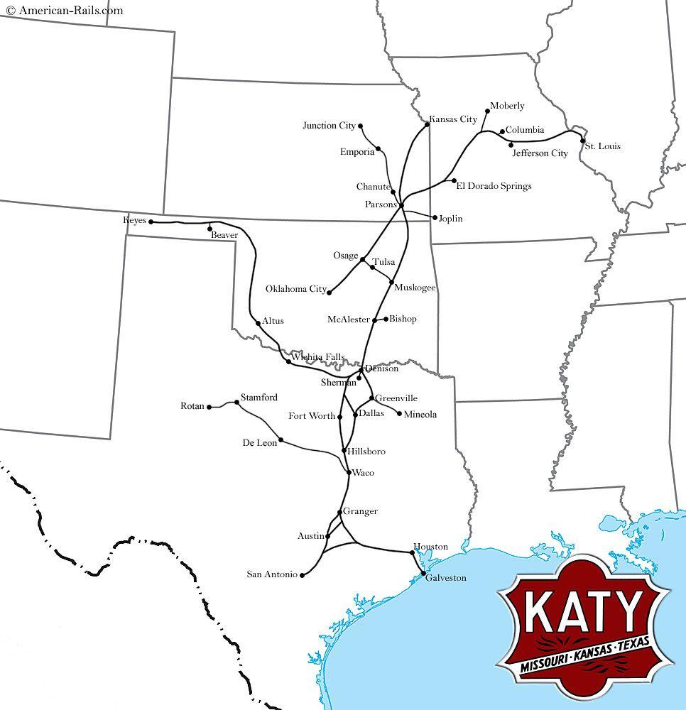 union pacific railroad map texas The Katy Railroad Map Photos History More Train Map union pacific railroad map texas