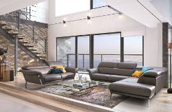 Canape Trail Un Salon Xxl Moderne En Cuir Marron Bien Affirme Canape Design Mobilier Design Architecte Interieur