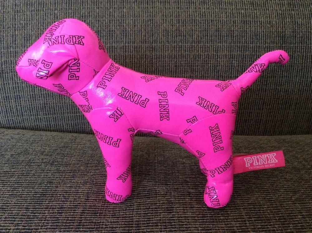 Victoria's Secret Dog Hot Pink Neon Black Logo Small Vinyl