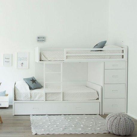 Twin cama tren kids pinterest literas camas y dormitorios - Habitacion infantil tren ...