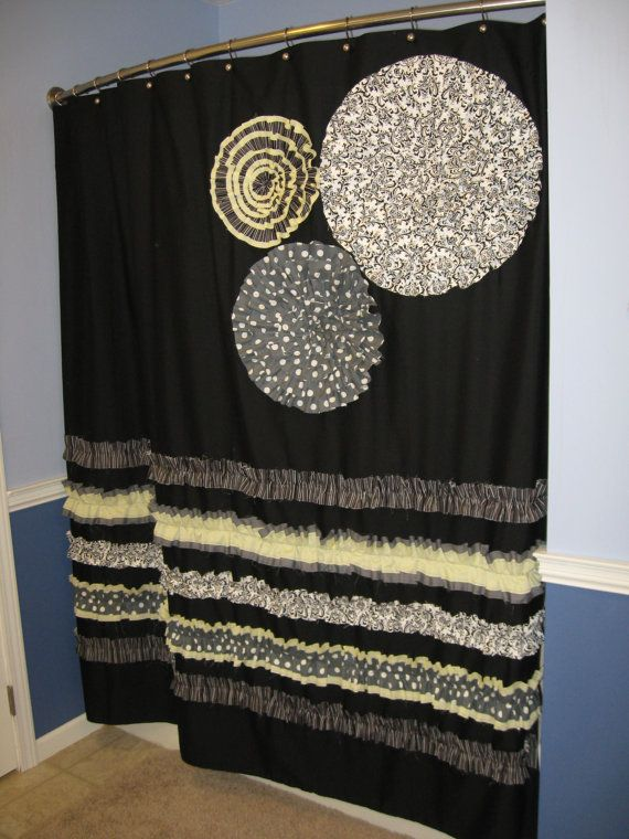 Shower Curtain Custom Made Designer Fabric By CountryRuffles, $149.00