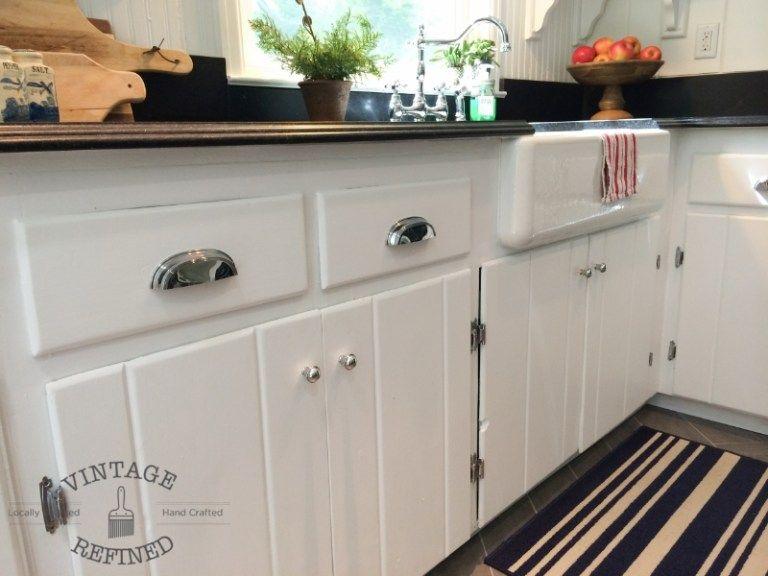 Remodelaholic   Kitchen Renovation: Updating Knotty Pine ...