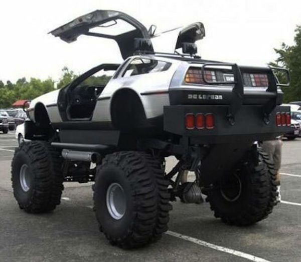 Sometimes Time Travel Mean Going Off Road Delorean Lift