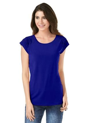Cato Fashions Crystal Stud Shoulder Top #CatoFashions #CatoSummerStyle