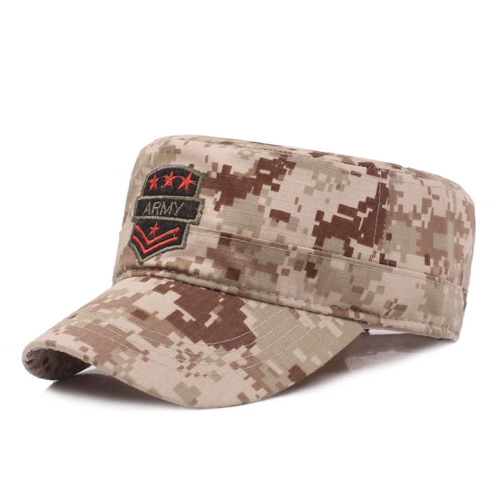 247418ae3 Flat Top Cap Solid Brim Army Cadet Style Military Hats | Womens Hats ...