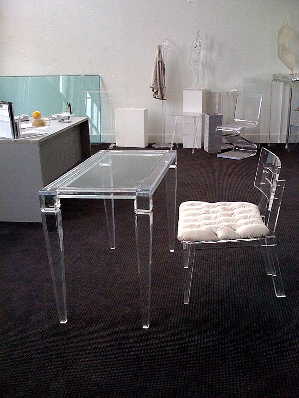 Bon Acrylic Home Office Desks For A Clearly Fabulous Work Space