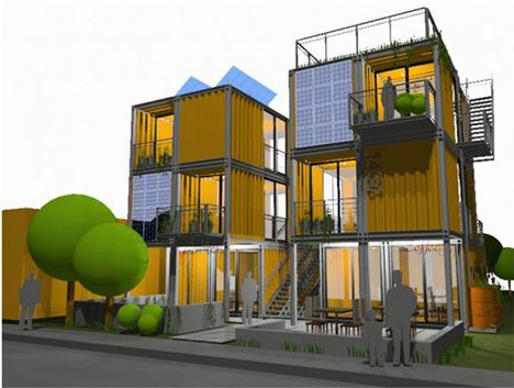 Mixed Use Retail Apartment Six Plex Container Homes Cost