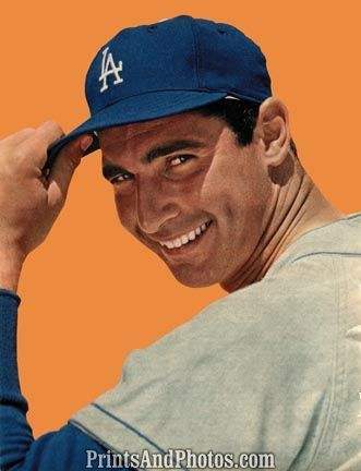 melts        sandy koufax baseball posters perfect game