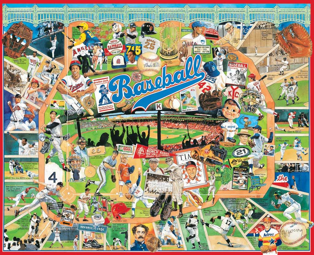 White mountain puzzles baseball greats do it yourself jigsaw white mountain puzzles baseball greats do it yourself jigsaw puzzle boxed attractively with solutioingenieria Image collections