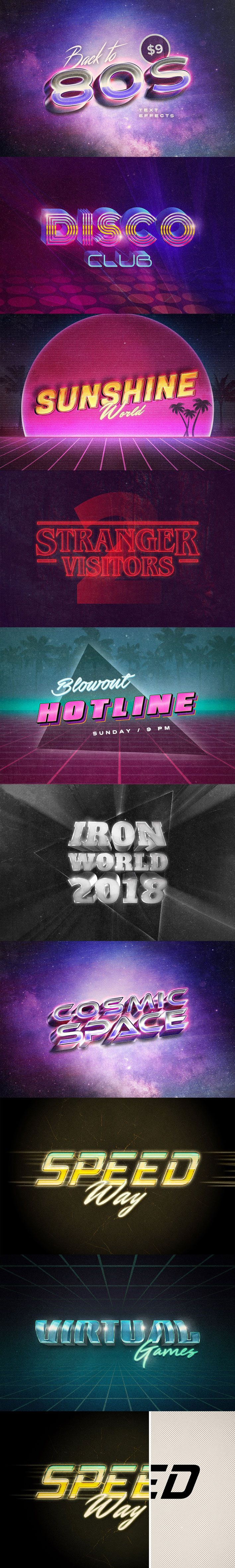 Back To The 80s Retro Text Effects Text Effects Retro Cool Fonts