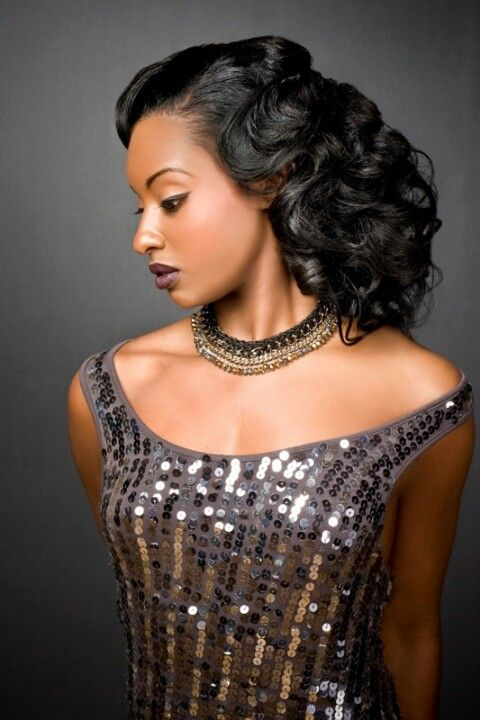 Black Girl Beauty In Gatsby Glamour Long Hair Styles Vintage