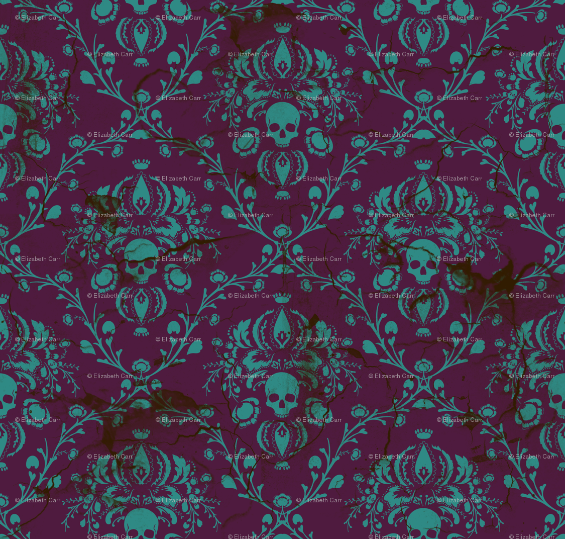purple | rrr skull damask teal purplehighres | purple | pinterest