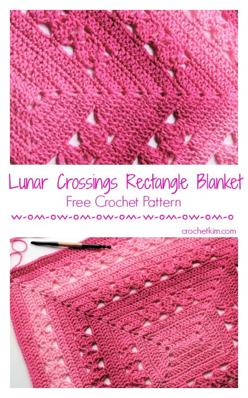 Lunar Crossings Rectangle Blanket Free Crochet Pattern | Crochet ...