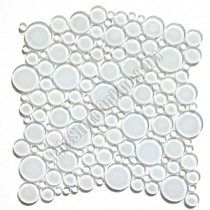 Round Bubbles Glass Tile Mosaic Crystal Glass Bubbles Round Mosaic Glass Tile Glbu17 1200es58 Super White Glossy Bubble Glass Mosaic Glass Glass Mosaic Tiles