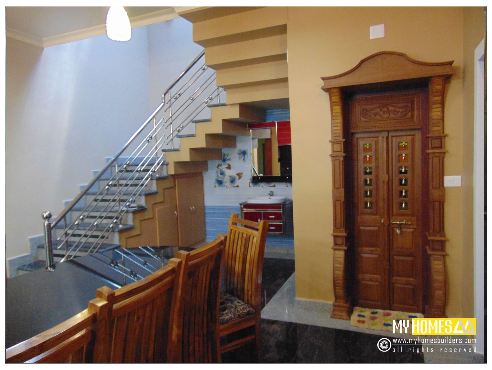 Kerala House Interior Staircase