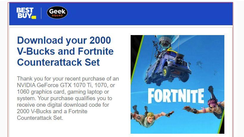 New Nvidia Fortnite Bundle Counterattack Set Redemption Code