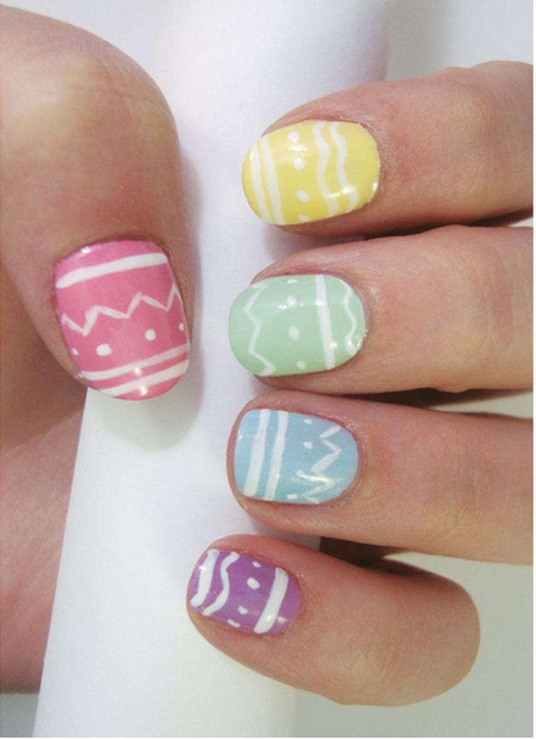 42 Pretty Easter nail art design ideas