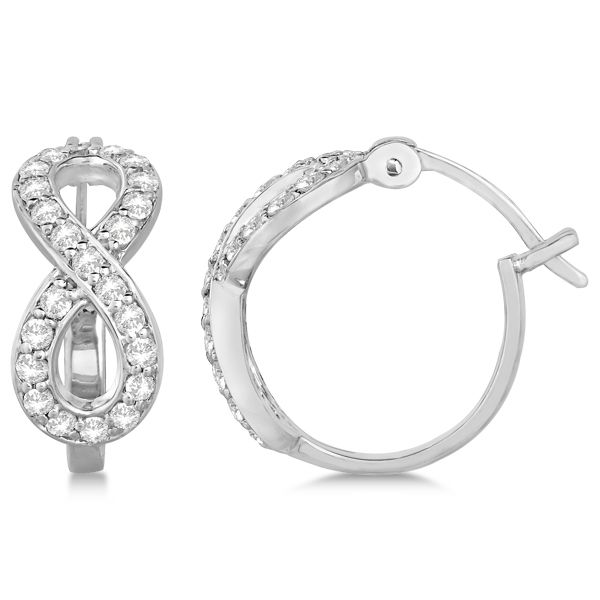Uniquepedia.com - Women's Pave Set White Diamond Hinged Back Design Infinity Loop Earrings 14k White Gold 0.75 carat, $1,319.45 (http://www.uniquepedia.com/womens-pave-set-white-diamond-hinged-back-design-infinity-loop-earrings-14k-white-gold-0-75-carat/)