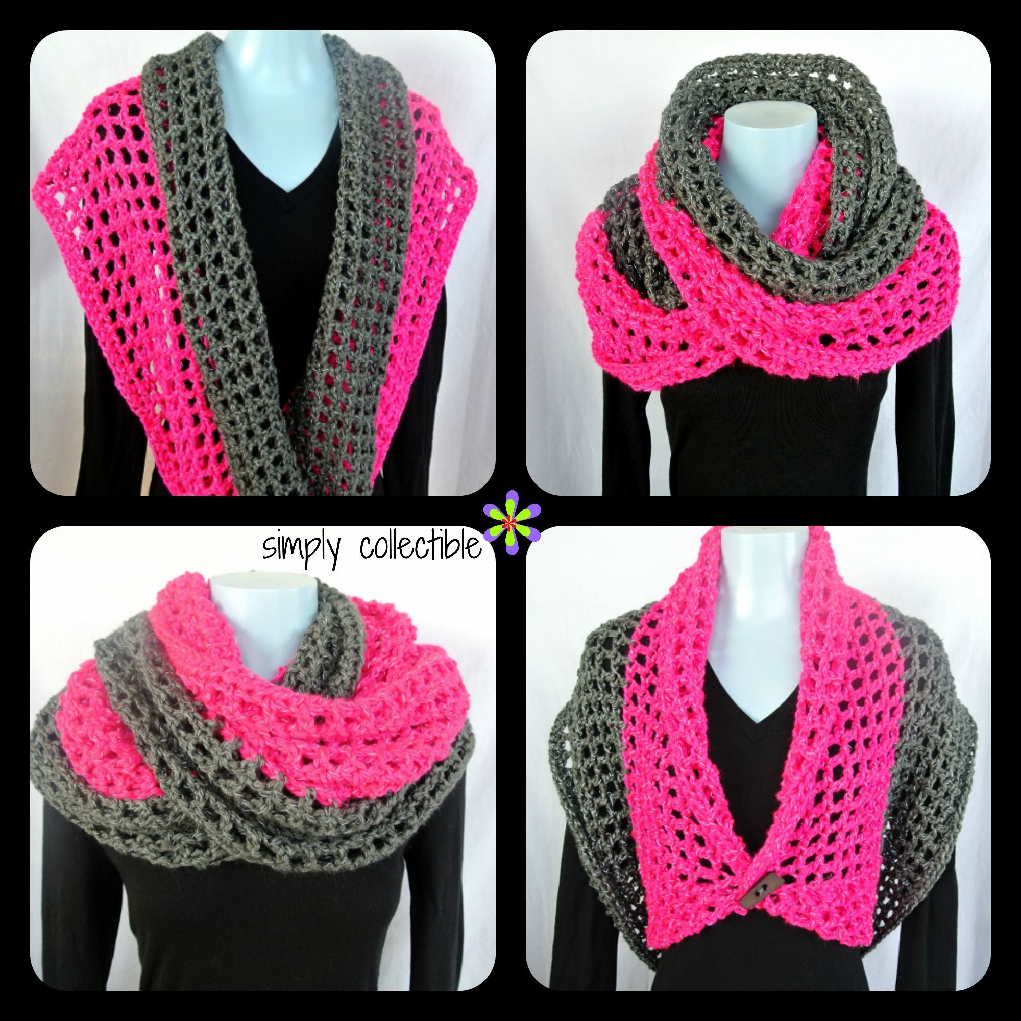 Coraline in San Francisco Cowl Wrap - free crochet pattern - Simply ...