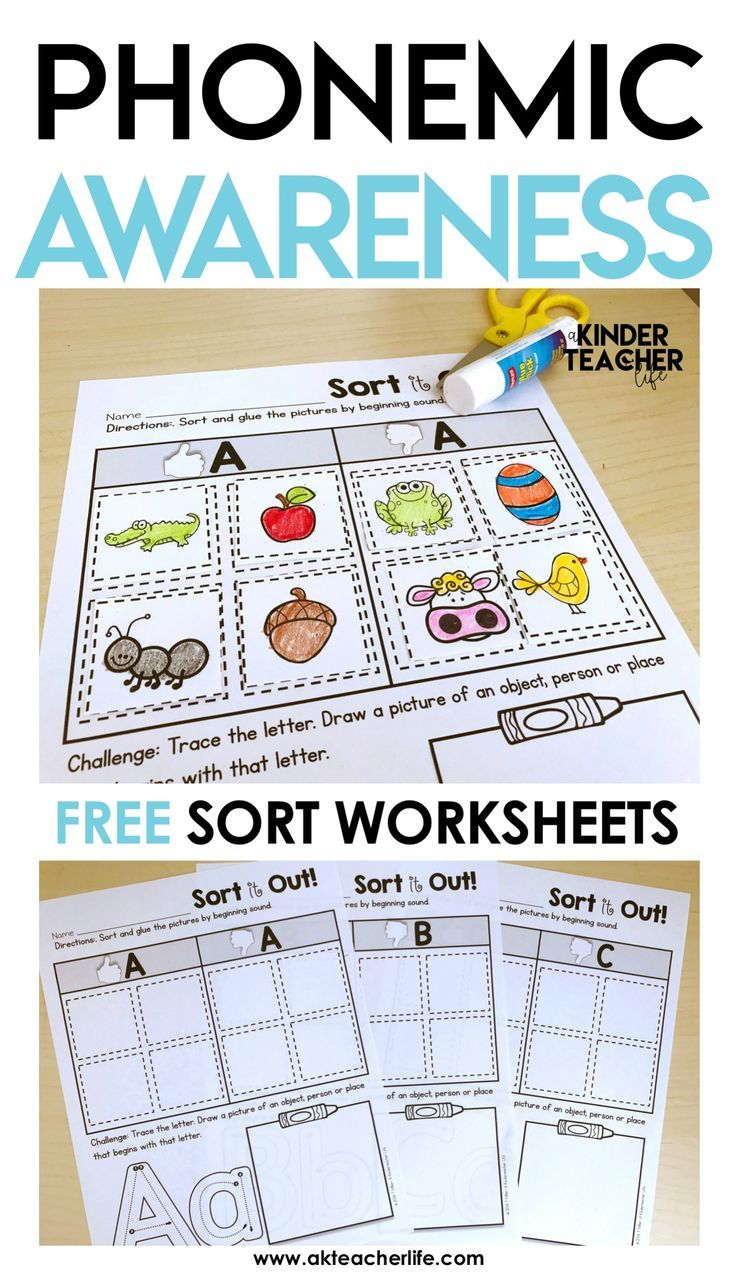 Worksheets Free Phonemic Awareness Worksheets free phonemic awareness sorting worksheets worksheets