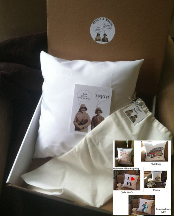 decorative throw pillow covers with insert by MinnieandMaude