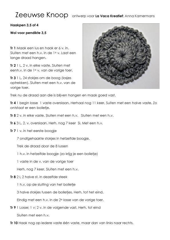 Zeeuwse Knoop Haken Nnnn Crochet Crochet Keychain En Knitting