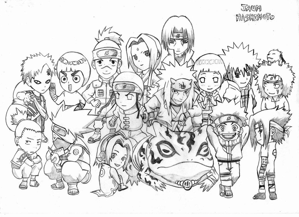 10 Mewarnai Gambar Naruto Naruto Drawings Chibi Coloring Pages