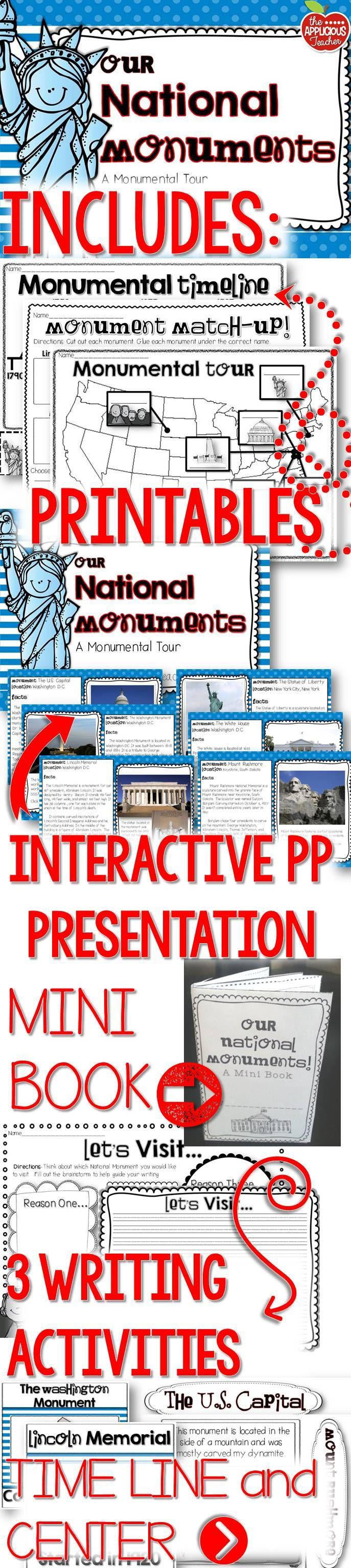 National Monuments Unit 3rd Grade Social Studies Social Studies Activities Homeschool Social Studies