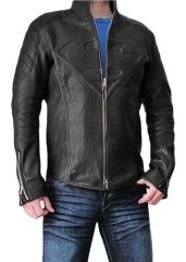 Black Jacket for Men – PU Leather Outerwear