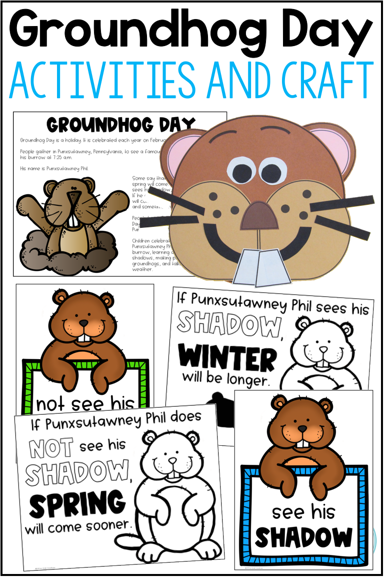 Celebrate The Groundhog Day Holiday With Activities That Include Informational Posters Booklets Groundhog Day Activities Groundhog Day First Grade Activities [ 1152 x 768 Pixel ]