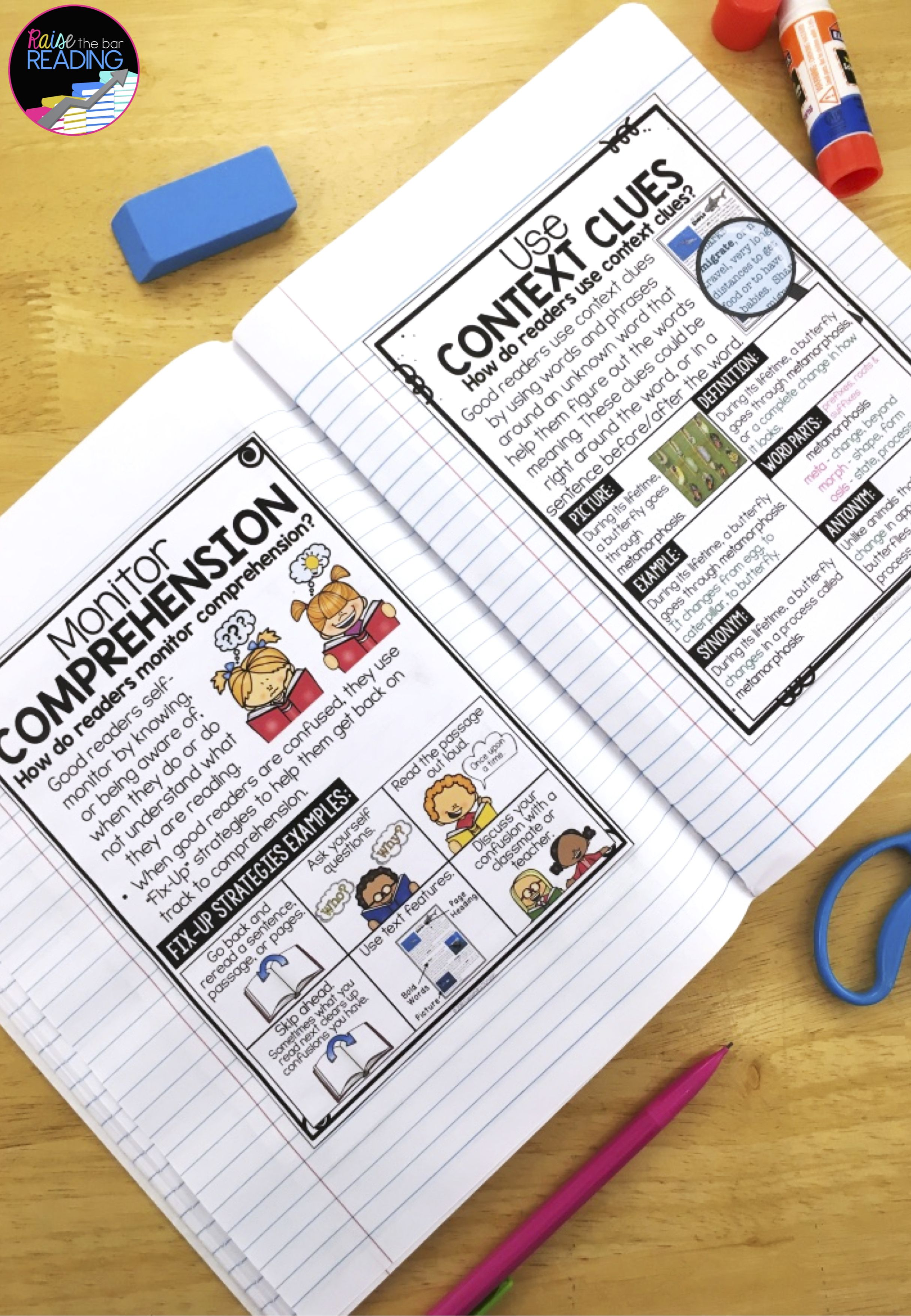 Reading Strategies Posters Anchor Charts Amp Reading