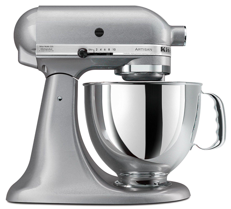 KitchenAid KSM150PSSM Artisan Series 5 Quart Stand Mixer, Silver Metallic  [Discontinued] *