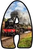 Free, printable lettering sets with a Steam Train, Transport themed background. Great for Geography Classroom Displays.