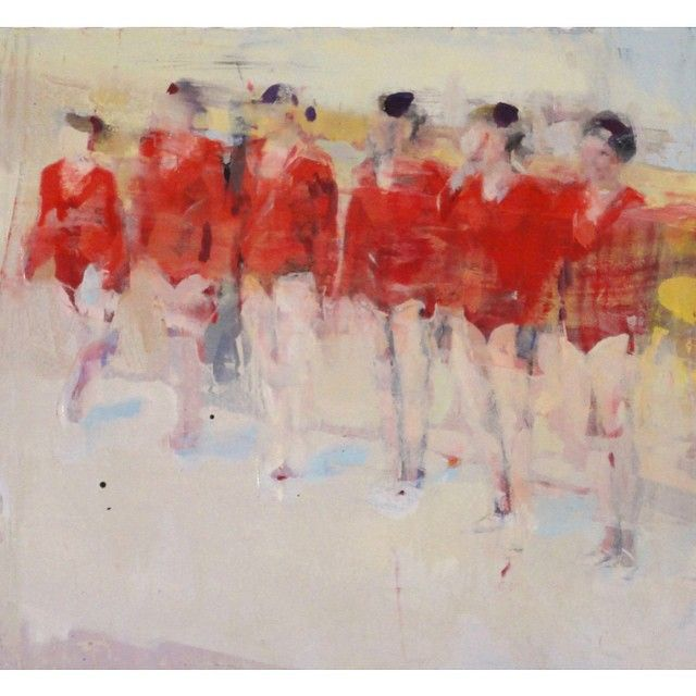 """Justin Duffus on Instagram: """"Quiet please also upstairs at #lindahodges#blurgallery#fbf#danceclass#oilpainting ."""" #fbf"""