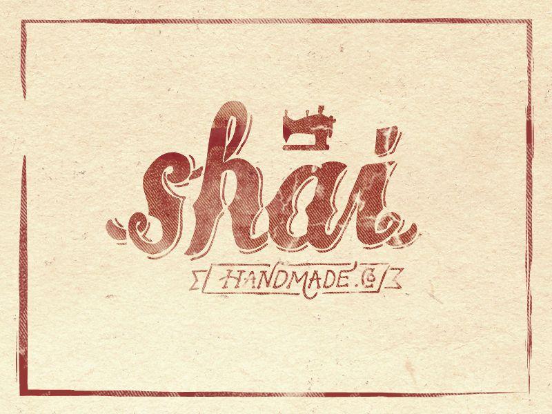 hand lettered logotype for shai handmade by aditsaputra