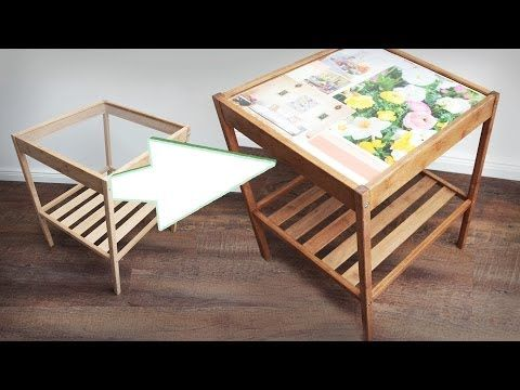 ▷ DIY Tisch verschönern Glastisch Idee Streichen Dekorieren