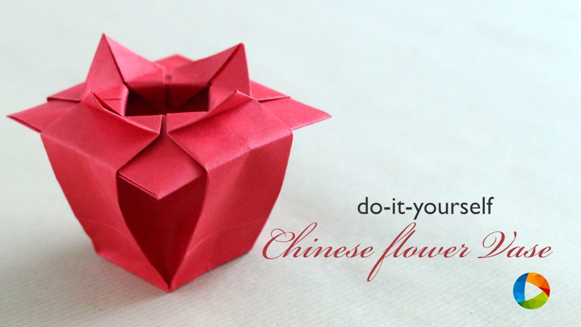 How To Make Origami Chinese Flower Vase Caixas E Envelopes