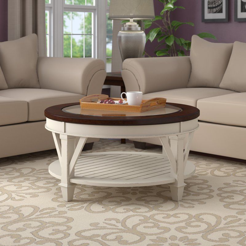 demaree coffee table  coffee table white round coffee