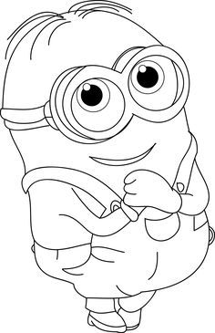 The Minions Dave Coloring Page For Kids Dibujos Animados Para