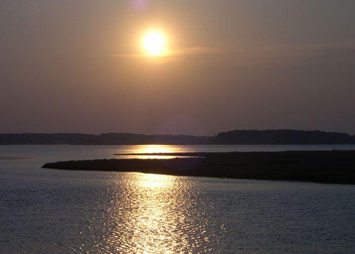 Sunset at Del Seashore State Park