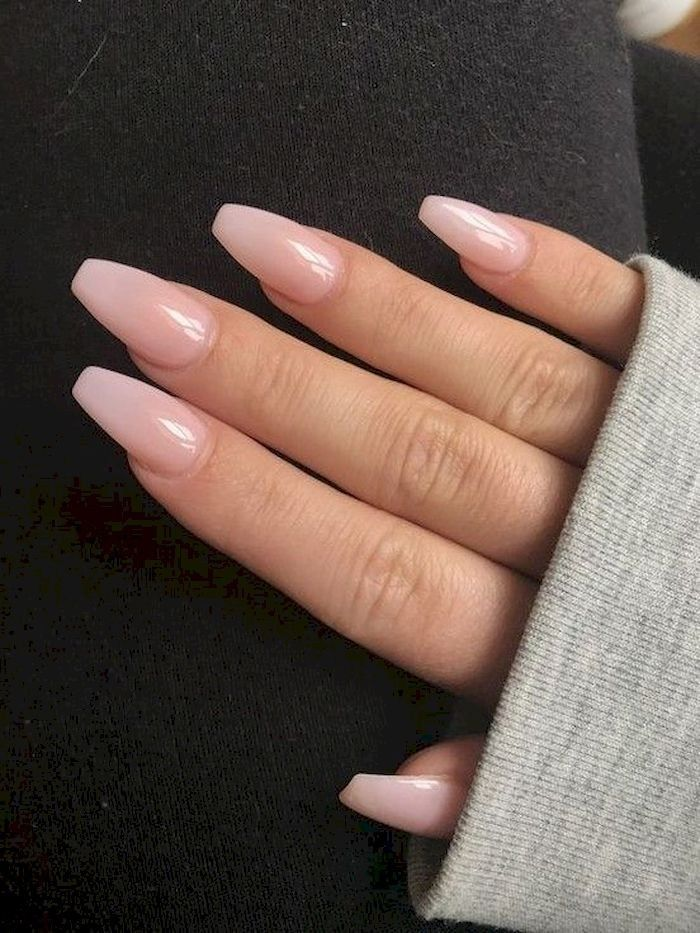 30 Beautiful Acrylic Nails Coffin Design Ideas For Any Women Coffin Nails Designs Neutral Nails