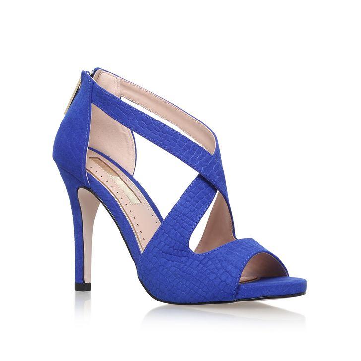Suzie Blue Suede High Heel Sandals By Miss KG | Kurt