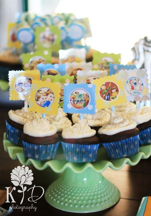 Story-book cupcake toppers~ Photo by, Kristin Dore Photography