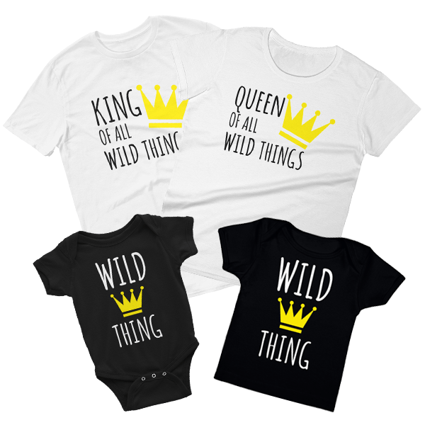 NEW!KING QUEEN PRINCESS PRINCE Family Matching T-shirts Various Color Newborn-5X