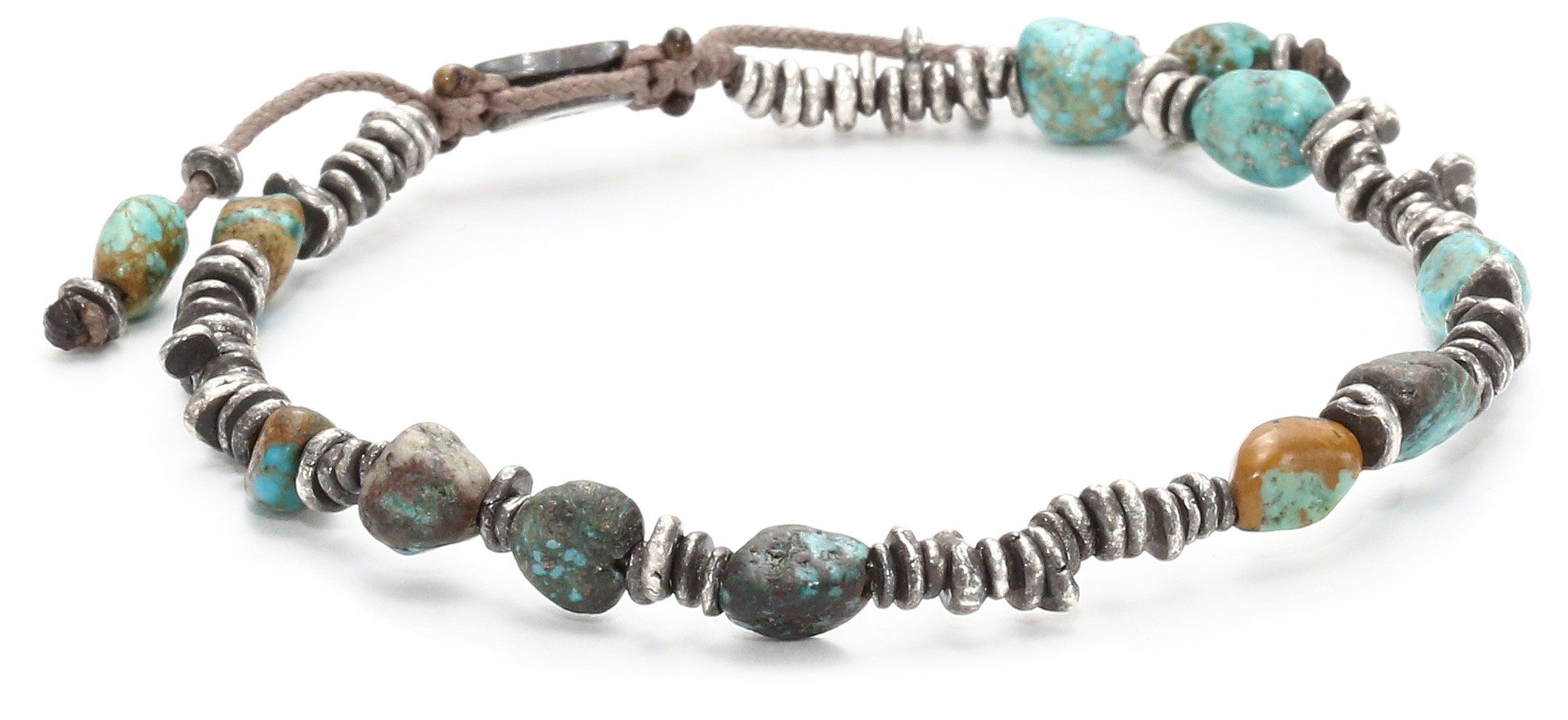 Mcohen handmade designs mixed sterling silver nuggets and turquoise